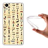 WoowCase Wiko Rainbow Up Hülle, Handyhülle Silikon für [ Wiko Rainbow Up ] Ägiptische Symbole 2 Handytasche Handy Cover Case Schutzhülle Flexible TPU - Transparent
