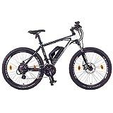 "NCM Prague E-Bike Mountainbike, 250W, 36V 13Ah 468Wh Li-Ion Akku, 26""/27,5""/29"" Zoll (26"" Schwarz)"
