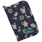 Ausweistasche Flamingo Damen Reisepass Tasche Herren Reisebrieftasche Wasserdicht Familie Reisedokumententasche Reiseorganizer mit Reißverschluss für Reiseunterlagen