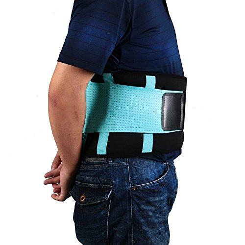 Back Brace- Rücken Aktivbandage Orthopädischer Rückenstützgürtel mit Stützfunktion Schmerzlinderung+ Unterstützung (M) Blau + Schwarz