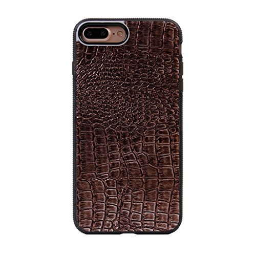 iPhone Case Cover Pour iPhone 7 Plus Texture Crocodile Style Ventouse Magnetic TPU + PC Paste Skin Cover Coque Protective ( Color : Dark red ) Brown