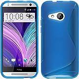 PhoneNatic Case für HTC One Mini 2 Hülle Silikon blau, S-Style + 2 Schutzfolien