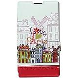 Akashi Etui folio pour Nokia Lumia 630/635 Paris Design
