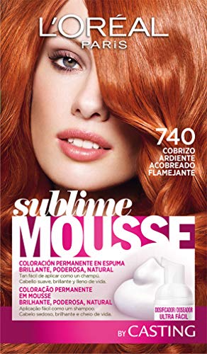 L'Oréal Paris Sublime Mousse Tinte en Espuma Coloración 740 Cobrizo Ardiente