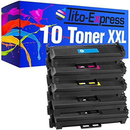 PlatinumSerie® 10 Toner XXL kompatibel für HP CF410X CF411X CF412X CF413X 6.500 Seiten Schwarz je 5.000 Seiten Color -