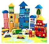 #4: Wooden City Building Blocks Assembly Toy