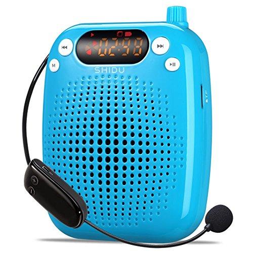 shidu-sd-s611-uhf-24g-wireless-voice-amplifier-with-10w-2000mah-lithium-battery-blue-uhf-10w