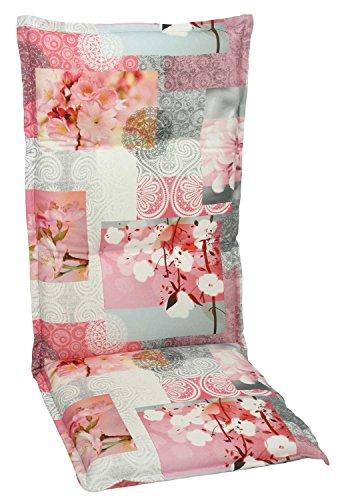 Sesselauflage Sitzpolster Gartenstuhlauflage für Hochlehner COREY 1 | B 50 cm x L 120 cm |...