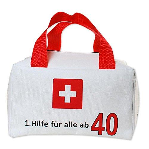 alle ab 40 - Erste Hilfe Tasche (12x 19x 11cm), mit Trageriemen (Alle Für Den Spaß)