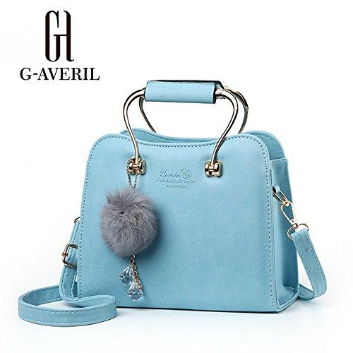 (G-AVERIL) Borse a Spalla e tracolla eleganza elegante Moda Donna blu