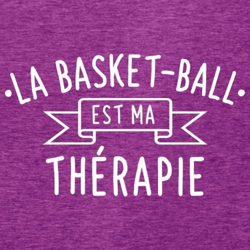 La Basket-ball est ma thérapie - Femme T-Shirt - 14 couleur Rose Antique