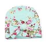 TININNA Bonnets Nouveau Né Coton Crochet Papillons Chapeau Unisexe Bébé Garçon Fille Naissance Tricot Hat Cap 0-3 Mois Vert