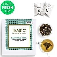 Teabox Himalayan Darjeeling White Tea, 40 Tea Bags (4 Free Exotic Samples)