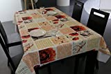 Lifetree Tablecloth PVC Vinyl Material for Dining Room Kitchen Room 137*180cm