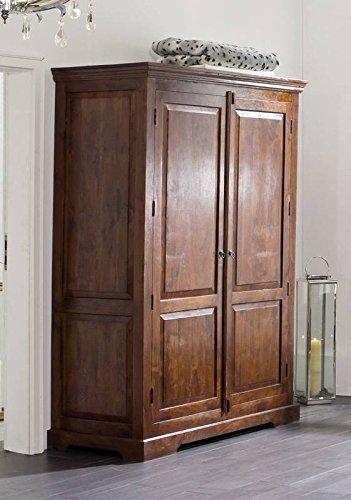 MASSIVMOEBEL24.DE Kolonial Kleiderschrank Akazie massiv Möbel Oxford #436