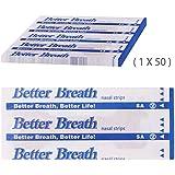 Incutex 50 unités de patchs nasaux contre le ronflement bandelettes nasales anti-ronflement, taille L