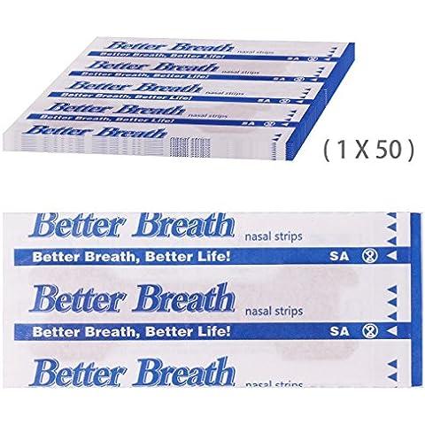 Incutex 50x cerotti nasali per non russare cerotti per naso antirussamento, misura (Questi Misura)