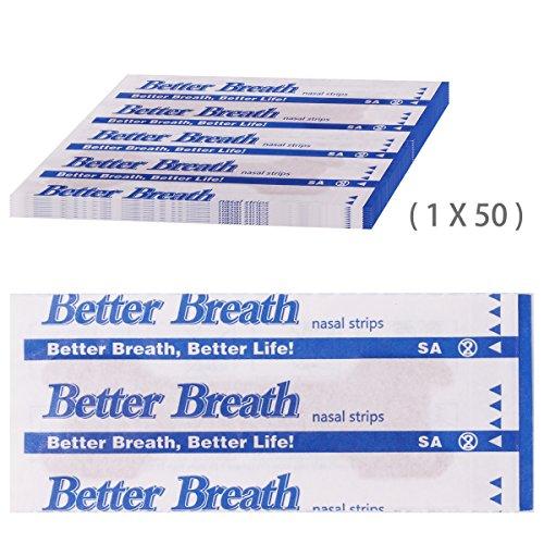 Foto de Incutex 50x tiras nasales contra los ronquidos tiritas nasales antirronquidos para respirar mejor, talla L