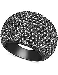 Swarovski Ring Schwarz Stein klar Kristallen Größe 60 extra groß; UK- R ; USA- 9; Referenz 5017151