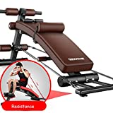 Lxn Schienale Regolabile a Forma di Arco Sit up Bench Crunch Board Esercizio Allenamento Fitness, Panca con manubri, Attrezzature per Il Fitness multifunzionali (con Resistenza)