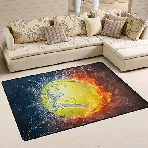 JSTEL Woor Tennis Wohnzimmer Essbereich Teppiche 91,4x 61cm Bed Room Teppiche Büro Teppiche Moderner Boden Teppich Teppiche Home Decor, Multi, 6 x 4 Feet -