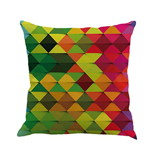 Clearance! Pillow Case,Geometry Painting Linen Cushion Cover Party Festival Pillow Cover Sofa Home Decor 45cmx45cm