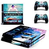 Playstation 4 + 2 Controller Aufkleber Schutzfolie Set - No Man´s Sky (2) /PS4