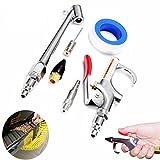 GOZAR 10 Stücke Auto Kompressor Air Duster Blow Gun Reinigungswerkzeug Kit Mit Gasdüse Nadel Teile