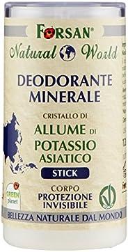 La Tradizione Erboristica Forsan - Deodorante Minerale Corpo Stick con Cristallo di Allume di Potassio - Natur