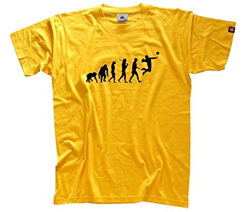Volleyball Gelbes T-shirt (Shirtzshop Herren Faustball Faust Ball Volleyball Handball Evolution T-Shirt Gelb S)
