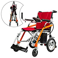 Foldable Intelligent Magnesium Alloy Old Man Electric Wheelchair Disabled Scooter Carry Lightweight Lithium Battery Wheelchair (Right Hand Control) by MAG.AL