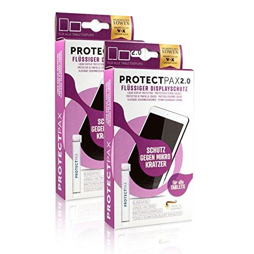ProtectPax Tablet Flüssiger Displayschutz aus die Höhle der Löwen - 2er Set - für Alle Apple iPad Samsung Tablets Nano Versiegelung Schutzfolie Panzerglas