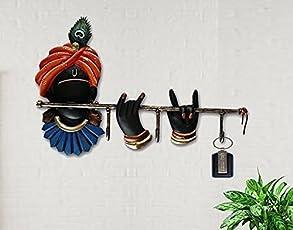 Karigaari India Beautifully Designed Wrought Iron Key Holder/Key Chain Holders/Key Hooks/Key Hangers