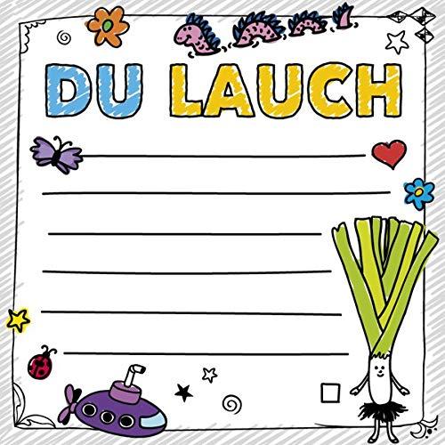 FUCK: Du Lauch - Klebezettel
