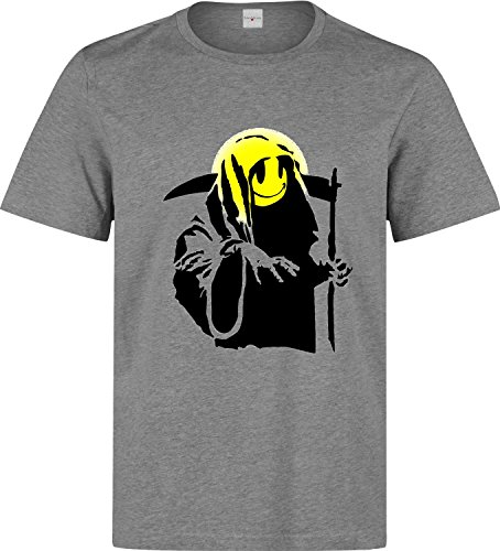 Banksy smiley reaper Men's T shirt X-Large -