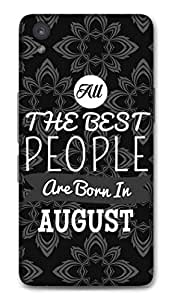 One Plus X Designer Hard-Plastic Phone Cover from Print Opera -Best People Born in August