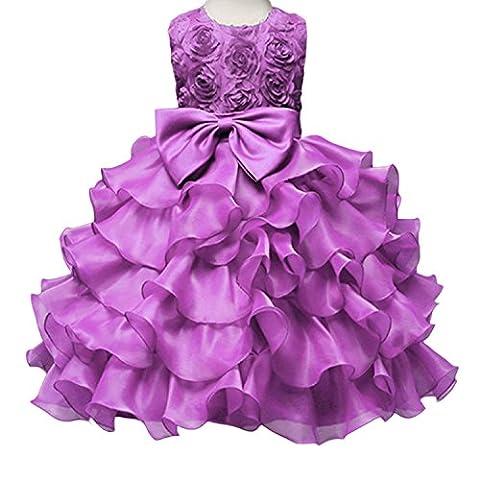 Mädchen Kleider Hochzeit Baby Chiffon Brautjungfer Festliches Festzug Party Prinzessin Märchen Blumenmädchen Dress