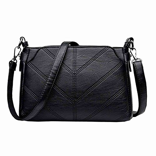 KUWOMINI.Women Bags All Seasons PU Tote Con Ruffles Rivetto Per Evento / Party Shopping Casual Sports Ufficio Formale Ufficio & Carriera Fucsia Blushing Black