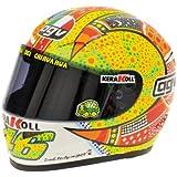 AGV Valentino Rossi MotoGP 2007 Phillip Islandia 2007 Casco Conductor 1: 2 Minichamps