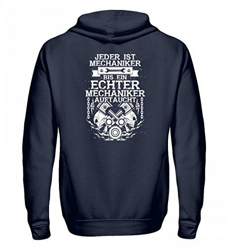 shirt-o-magic Hochwertiger Unisex Kapuzenpullover Hoodie - bis Ein Echter Mechaniker auftaucht - Geschenk KFZ-Mechatroniker-in Schrauber-in (Color Magic-handschuhe)