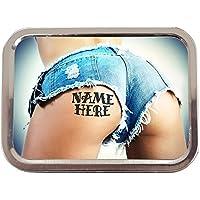 389993e183 Personalised Girl Bum Funny Sexy Sh107 2oz Tobacco Tin