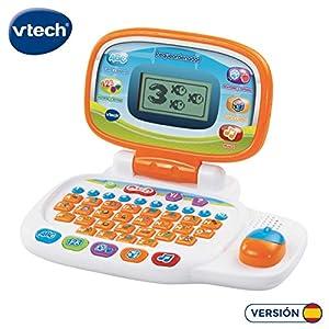 VTech 80-155422 - Pequeordenador, Ordenador infantil con más de 20 actividades de letras, números, animales, lógica y música