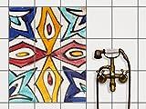 creatisto Küchen-Folie Dekor-Fliesen | Selbstklebende Aufkleber Folie Sticker Badfliesen Badezimmergestaltung | 20x25 cm Muster Ornament Spanish Tile 4-9 Stück