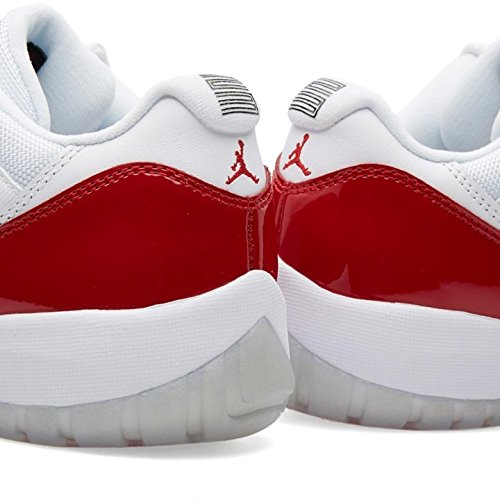 Nike Air Jordan 11 Retro Low, Scarpe da Basket Uomo white/varsity red-black
