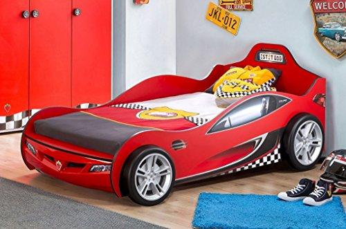 *Cilek RACECUP Autobett Kinderbett Rennfahrerbett Rot, Matratze:ohne*