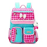 EssVita Kid Child Princess Style School Bags Backpack Waterproof Grils School Rucksackfor Primary Students (Style A Pink+Blue)