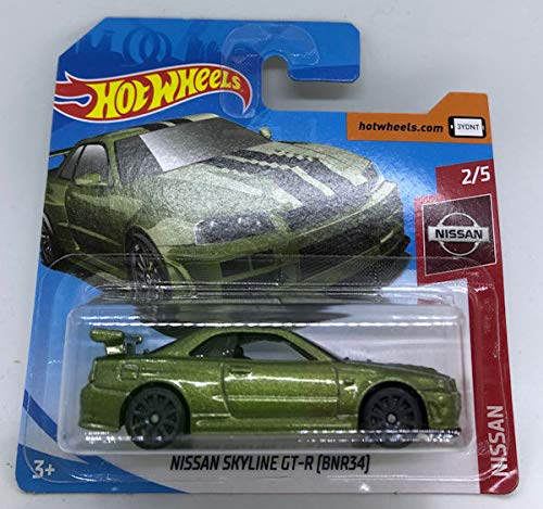 2019 Hot Wheels Nissan Skyline GT-R (BNR34) Dark Green 2/5 Nissan 45/250 (Short Card)