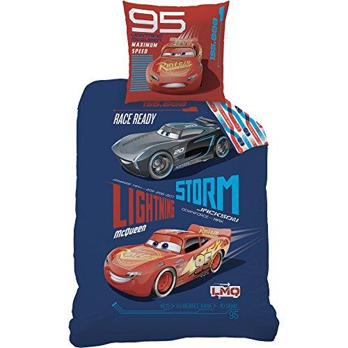 Disney Cars Generation Bettwäsche-Set, Baumwolle, Blau, 135 x 200 cm, 2-Einheiten