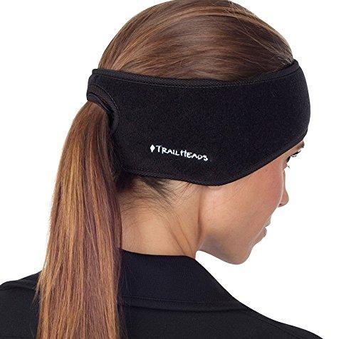 TrailHeads Goodbye Girl Haarband mit Öffnung für Pferdeschwanz, schwarz/schwarz