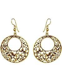 SKN Multicolour Party Fashion Dangle & Drop Antique Oxidised Earrings For Women & Girls (SKN-4037)